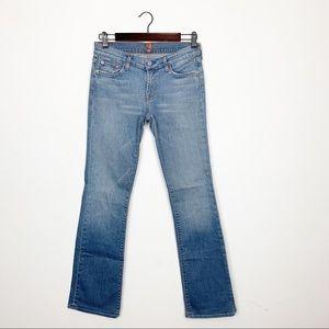 7FAM Light Wash Bootcut Jeans Size 29